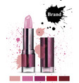 lipstick cosmetics watercolor product vector image