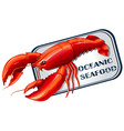 Lobster seafood can concept vector image