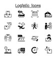 logistic icons set graphic design vector image