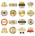 Luxury golden labels icons set isometric 3d style vector image vector image