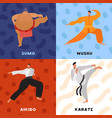 martial arts flat design concept vector image