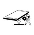 mobile app development vector image vector image