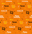 orange halloween seamless pattern vector image vector image