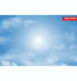 photorealistic colorful blue sky background vector image