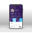 purple social network profile ui ux gui screen vector image vector image