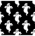 Seamless pattern of Halloween ghosts vector image vector image