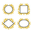set geometric frames with wreath vector image vector image
