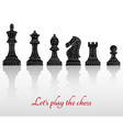 Set of all chess pieces vector image vector image