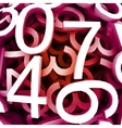 Set of digital numbers red background vector image vector image