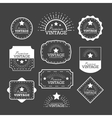 Set vintage labels and frame vector image vector image
