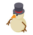 snowman icon isometric 3d style vector image vector image