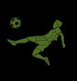 soccer player somersault kick overhead kick vector image vector image