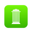 street trash icon digital green vector image vector image