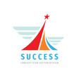 success - logo template concept vector image vector image