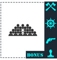 team lead icon flat vector image vector image