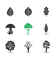 trees glyph icons set vector image