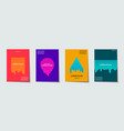trendy template set with futuristic modern neon vector image