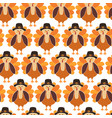turkey seamless pattern cute thanksgiving vector image vector image