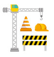 under construction icon set vector image vector image