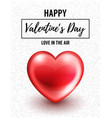 valentines day background with glossy heart vector image vector image