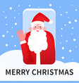 video call to santa claus merry christmas vector image vector image