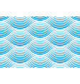 waves seamless pattern water runny curve lines vector image vector image