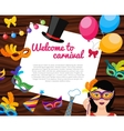 Welcome To Carnival Composition vector image vector image