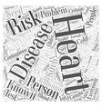 What Is Heart Disease Word Cloud Concept vector image vector image