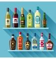 Alcohol drinks background design Bottles for vector image
