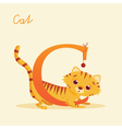 C for cat vector image