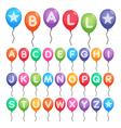 balloon alphabet letters vector image