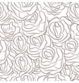 Great seamless pattern with flowers vector image
