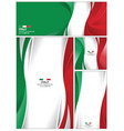 abstract italy flag background vector image vector image