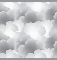 abstract white cloud sky seamless pattern flow vector image vector image