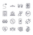 airplane and airport icons set on the white vector image vector image