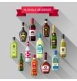 alcohol drinks background design bottles vector image