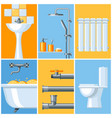 bathroom interior plumbing background vector image vector image
