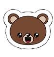 Bear kawaii cartoon design vector image vector image