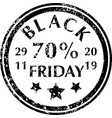 black friday rubber stamps vector image vector image