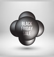 black friday sale premium bubble badge template vector image vector image