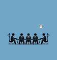 brainstorming and discussion among businessman vector image