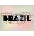 Brazil in abstract geometric style Design for vector image
