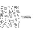 building tools background vector image
