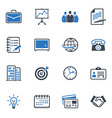 Business and Office Icons Color - Blue Series
