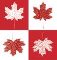 Canada vintage maple leaf set vector image vector image