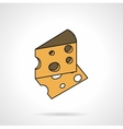 Cheese flat icon vector image