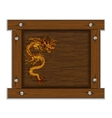 Chinese dragon on the wooden frame vector image