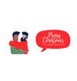 christmas and new year boys friends hug web banner vector image vector image