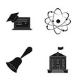 computer cap atom nucleus bell university vector image vector image