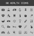 Dark healthy and medicare icon set vector image vector image